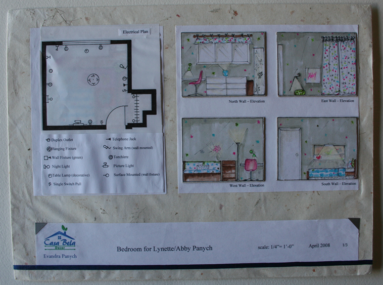 Delightful Decorplan #2: I Created This Decor Plan For A Little Girl. I Used Her Blue Bedding And