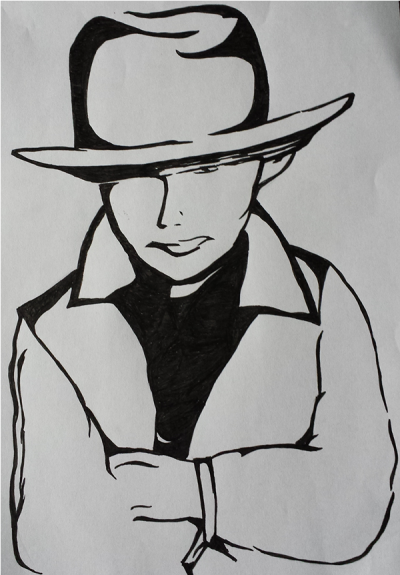 Black and White – Ink Drawing – Sheriff Joe