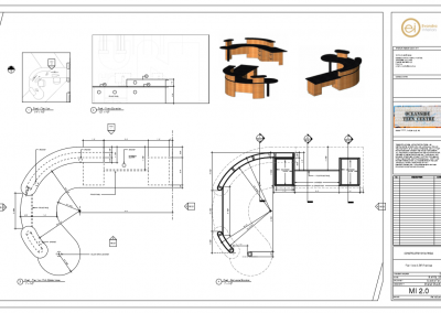Reception Desk - Millwork Drawing